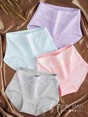 內褲  5條裝高腰內褲女純棉收腹女士產后全棉蕾絲褲頭大碼胖mm透氣提臀三角褲