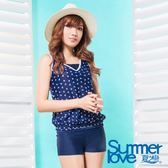 【SUMMERLOVE夏之戀】大女海軍風長版二件式泳衣-S17731