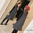 孕婦上衣連身裙中長款寬松背帶裙秋冬兩件套裝【時尚大衣櫥】