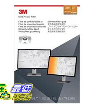 [美國直購] 3M GF230W9B 金色 螢幕防窺片 Privacy Screen Protectors Filter for Widescreen 23.0 - 16:9, 510 mm x 287 mm