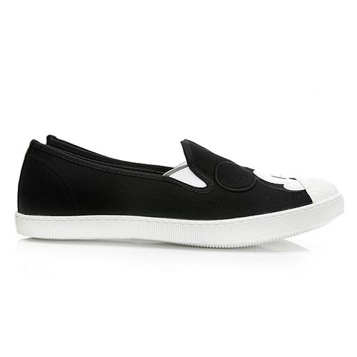 DISNEY 可愛米奇大頭帆布懶人鞋-黑(DW5639)