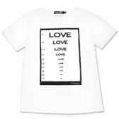 Black & White Voice T-shirt-盲目的愛(White)