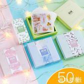 手賬膠帶貼紙~韓國手帳貼紙ins風復古風人物文字款貼紙個性創意裝飾貼紙盒裝-薇格嚴選