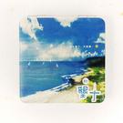 【收藏天地】台灣紀念品*雙面隨身鏡-墾丁,天氣晴 /小物 送禮 文創 風景 觀光  禮品