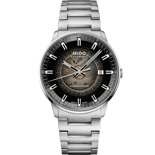MIDO 美度 Commander Gradient香榭系列 煙灰漸層機械腕錶 M0214071141100