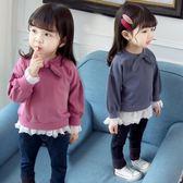 女童新款秋裝嬰兒長袖T恤女寶寶打底衫小童秋季上衣1-2-3-4歲