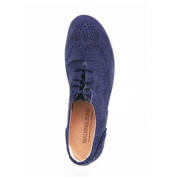 WALKING ZONE 英倫風巴洛克雕花休閒鞋 女鞋-藍(另有紅、黃)