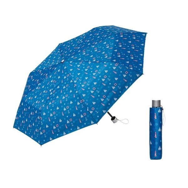 海軍風晴雨兩用短傘【顏色隨機出貨】