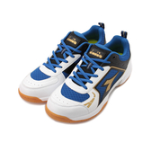 DIADORA 寬楦羽球鞋 白藍 DA71132 男鞋 鞋全家福