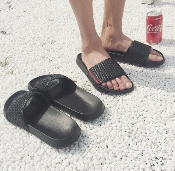 FINDSENSE MD 日系 流行時尚 潮 男 編織拖鞋 室內拖鞋 一字拖 海