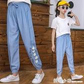 兒童防蚊褲夏季2021夏天女童褲子寬鬆薄款大童夏裝燈籠褲長褲超薄 蘇菲小店