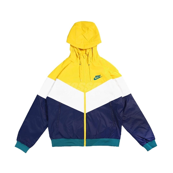 Nike 外套 NSW Windrunner Jacket 黃 藍 男款 連帽外套 運動休閒 防風 【ACS】 DC4113-714