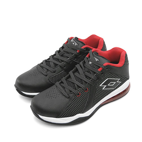 LIKA夢 LOTTO 專業飛織氣墊籃球鞋 Vortex 旋風系列 黑紅 5771 男