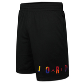 F-NIKE JORDAN 男裝 籃球褲 網布 彩色字母 透氣 黑 AV0115-010