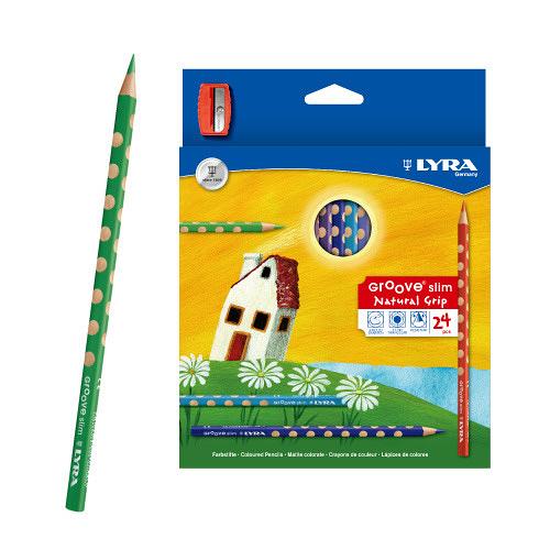 【德國LYRA】GROOVE三角洞洞色鉛筆(細)(24色)★附筆削