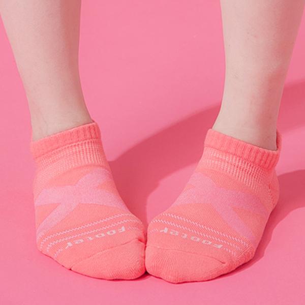 Footer 除臭襪 X型減壓經典護足船短襪(女) T109M-桃紅 22-25cm