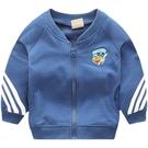 兒童外套 男童長袖外套2021春裝新款兒童裝刺繡拉鏈衫寶寶開衫棒球服夾克衫 歐歐