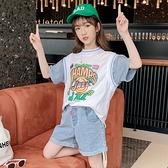 女童T恤 女童t恤夏裝短袖兒童上衣半袖純棉2021新款韓版夏季洋氣大童裝潮【快速出貨】