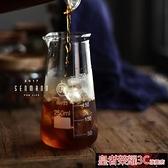 咖啡壺 耐高溫咖啡分享壺 高身玻璃量杯燒杯 手沖冰咖啡器具250ML 現貨