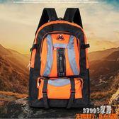 登山包 超大容量旅行背包男女戶外休閒行李包英倫牛仔帆布雙肩包 df2444 【Sweet家居】