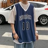 假兩件半短袖T恤男加肥加大碼潮胖子寬鬆休閒籃球服運動夏裝歐美 【ifashion·全店免運】