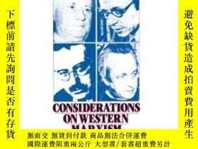 二手書博民逛書店Considerations罕見On Western Marxism-對西方馬克思主義的思考Y436638 P