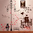臥室溫馨背景墻壁紙墻紙自粘裝飾貼紙墻貼畫浪漫宿舍海報女孩防水【免運直出】