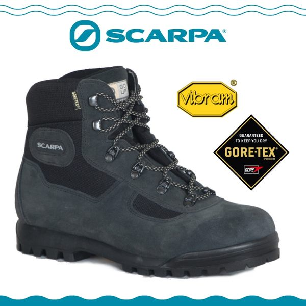 【SCARPA 義大利 GORE-TEX登山鞋《灰綠》】60023C/防水透氣/高筒/黃金底/建行鞋