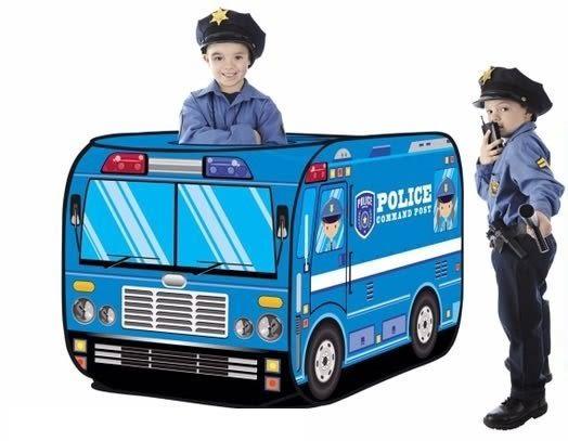 *粉粉寶貝玩具*霹靂警車巴士球屋~帥氣酷炫的警車遊戲帳篷球屋~