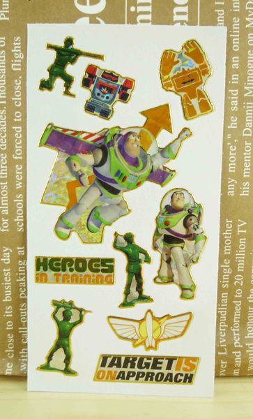【震撼精品百貨】Metacolle 玩具總動員-貼紙-巴斯與士兵圖案