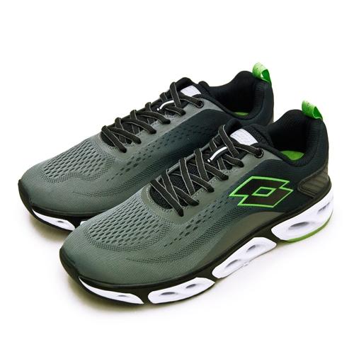 LIKA夢 LOTTO 專業風動慢跑鞋 AIR FLOW 4.0系列 灰黑綠 2138 男