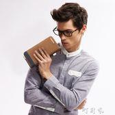 男士手包帆布錢包男長款韓版時尚手拿包多功能多卡位青年錢卡包包 盯目家