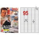 【奇奇文具】龍德LONGDER LD-843-W-A 白色 電腦列印標籤紙/三用標籤/95格 (105張/盒)