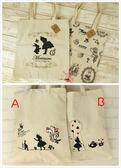 新品經典童話 愛麗絲剪影單肩包 手提購物袋-蛋妹的店