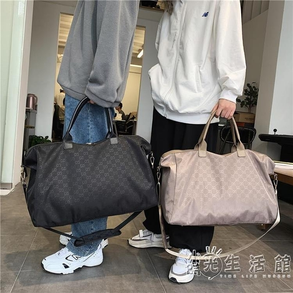 旅行袋包行李健身大容量短途收納運動超大輕便包包女待產手提出差 小時光生活館