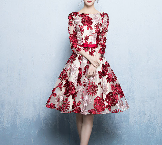 (45 Design) 洋裝禮服婚禮洋裝伴娘禮服洋裝小禮服中長禮服小洋裝蕾絲洋裝媽媽禮服3