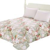 床單單件雙人舒適布料1.5m1.8米2.0床中筒被單子田園花朵 都市韓衣