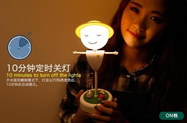 稻草人充電led小夜燈 臥室床頭應臺燈插電喂奶燈創意夢幻