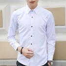男士素色襯衫 韓版潮流襯衣S-L(共3款)
