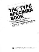 二手書The Type Specimen Book: 544 Different Typefaces with Over 3000 Sizes Shown in Complete Alphabets R2Y 0442279159