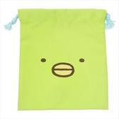 【角落生物束口袋】角落生物束口袋收納袋綠企鵝 正品該該貝比  ☆