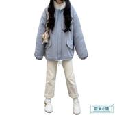 運動上衣男 男士連帽T恤加絨秋冬季休閒運動套裝青少年加厚上衣情侶外套男裝衣服 歐米小鋪