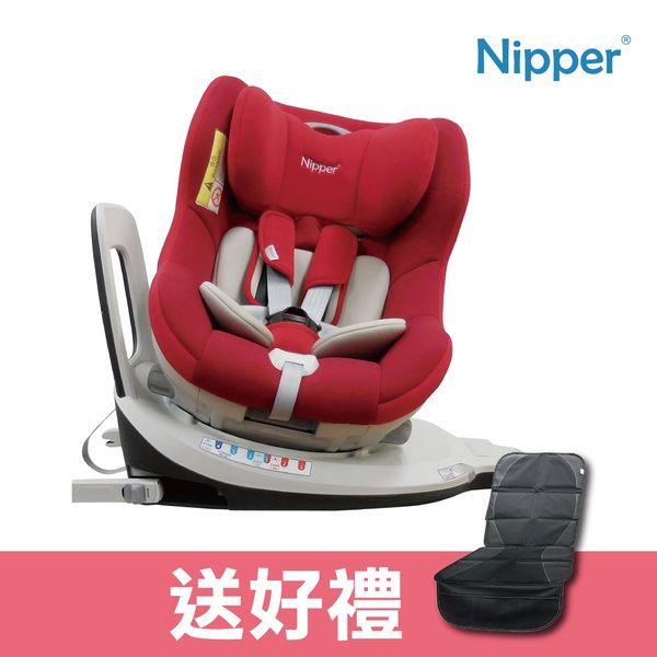 【Nipper】0-4歲 ISOFIX 360度兒童汽車安全座椅 - 紅色 (贈豪華汽車座椅防滑墊)
