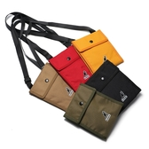 KANGOL 側背包 黑 卡其 黃 軍綠 紅 小方包 扁包 內夾層 隨身包 男女 (布魯克林) 60553016-