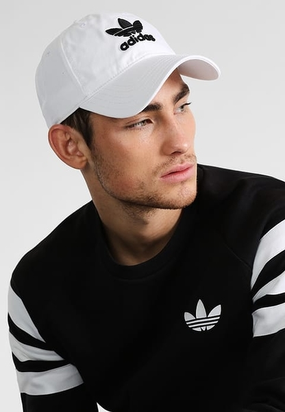 IMPACT Adidas Originals Trefoil Cap LOGO 白 黑 老帽 棒球帽 灣沿帽 三葉草 情侶 男女可戴 BR9720