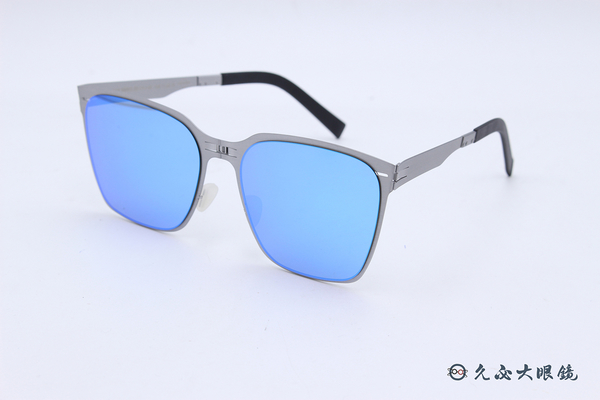 ROAV 偏光太陽眼鏡 AUDREY - Mod.SS002 ( 銀框/黃水銀) 薄鋼折疊墨鏡