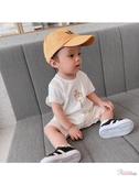 連身裝 兒童連身衣夏裝薄款男寶寶哈衣爬服短袖兒童連身衣兒童衣服 2色