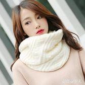 圍脖 冬季保暖針織毛線情侶韓版百搭白色圍巾女原宿 AW6270【棉花糖伊人】
