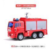 售完即止-大號消防車玩具可噴水云梯救火升降灑水工程遙控兒童慣性汽車12-27(庫存清出T)