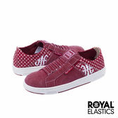 Royal Elastics Icon Washed 經典運動鞋-莓紅x印花